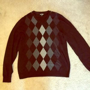 Men's black merino wool blend sweater. XL.